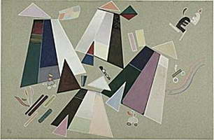 Wassily Kandinsky. Untitled (Composition with Grey Background),