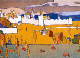 Wassily Kandinsky. Walled City in Autumn Landscape,